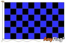 -BLUE AND BLACK CHECK  ANYFLAG RANGE - VARIOUS SIZES